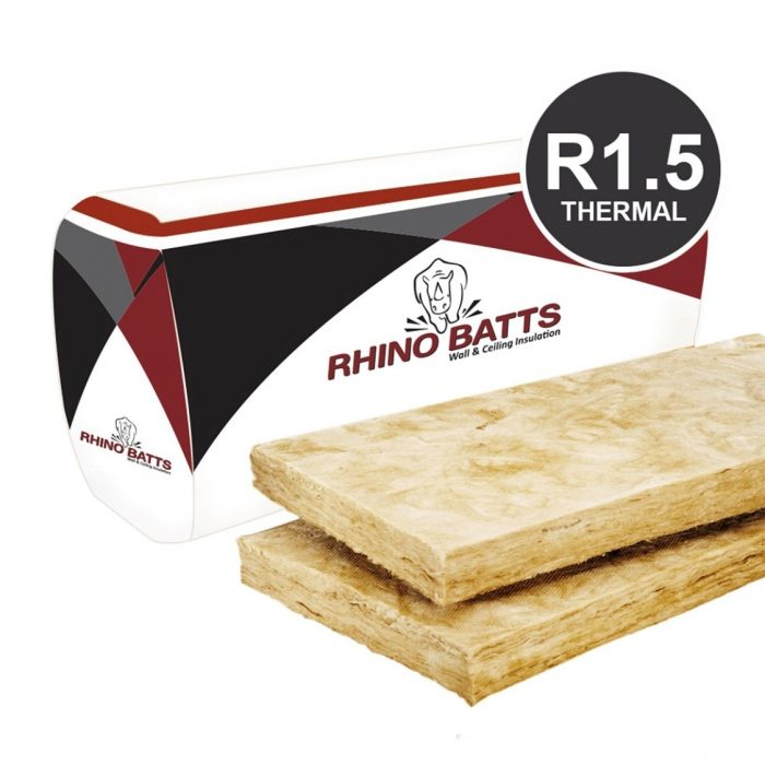 Rhino R1.5 (75mm x 430mm) Glass Wool Insulation Batt